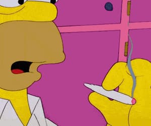 weed, homer, and the simpsons image