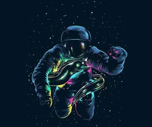 spaceman, colors, and space image