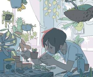 gif, plants, and art image