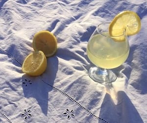 lemon, aesthetic, and drink image