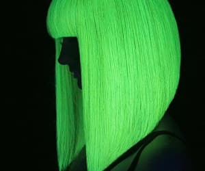 green, hair, and neon image