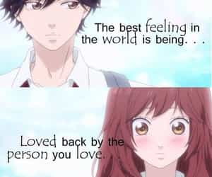 anime, romantic quotes, and ao haru ride image