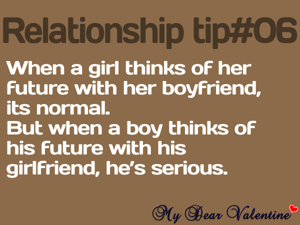 When a girl thinks of her future with her boyfriend ...