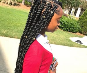 melanin, box braids, and hair goals image