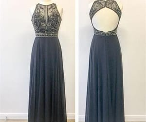 backless dress, Prom, and prom dress image