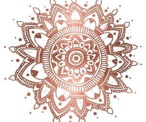 mandala and rose gold image