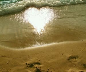 beach, heart, and paradise image