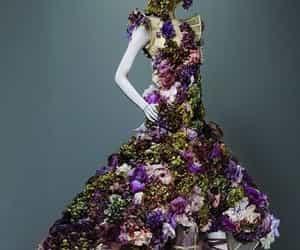 dress, green, and purple image