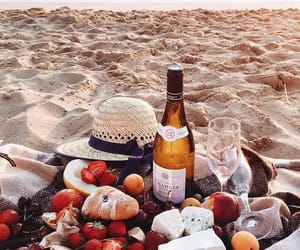 champagne, picnic, and summer image