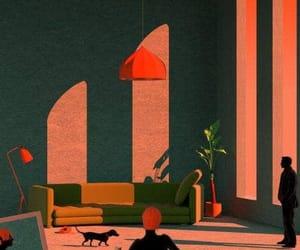 colours, illustration, and interior design image