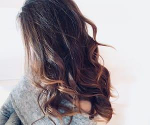 brownhair, waves, and wavyhair image