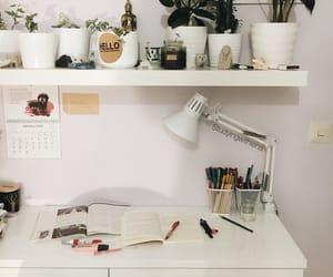 books, desk, and hard image