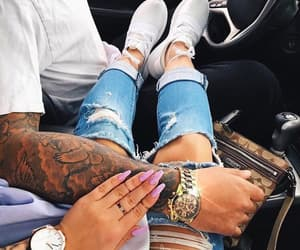 boy, couple, and jeans image
