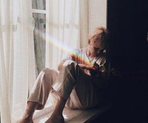 aesthetic, rainbow, and chimchim image
