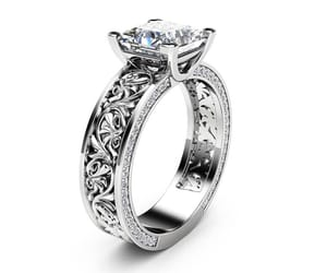 engagement ring, engagementring, and moissanite ring image
