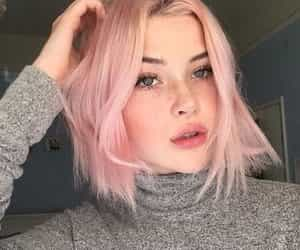 short hair and rose gold image