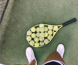 balls, racket, and tennis image