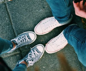 allstar, converse, and couple image