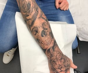 arm, grey, and ink image