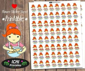 etsy, ginger, and kawaii stickers image