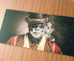 man, picture, and smoke image