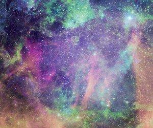 galaxy, cross, and triangle image