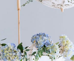 flowers, hydrangea, and lace image