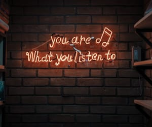 music, neon, and quotes image