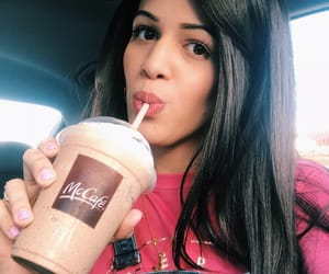 beautiful, makeup, and frappe image