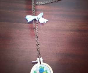 diy, flowers, and necklace image