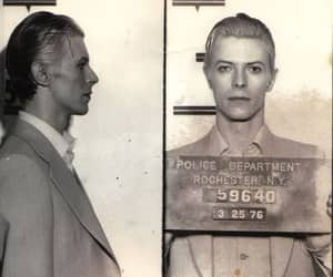 david bowie, bowie, and mugshot image
