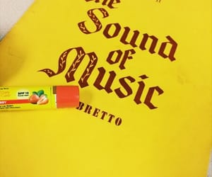 musical, sound of music, and yellow image