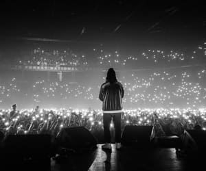 black and white, hip hop, and lights image