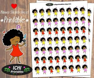 african american, black girl stickers, and etsy image