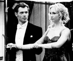 caroline, klaus, and the vampire diaries image
