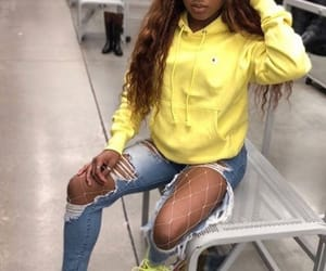 beauty, outfits, and yellow image