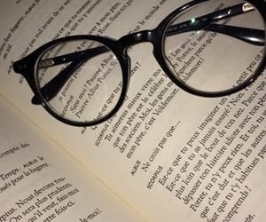 book, glasses, and lifestyle image