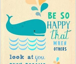 happy, quotes, and whale image