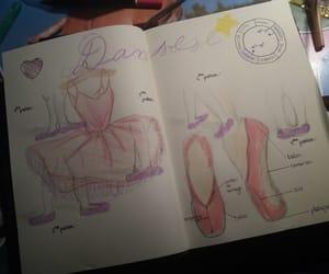 danse, bullet journal, and dessin image