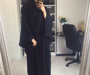 black, fashion, and abaya image