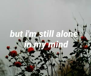 alone, flowers, and mind image