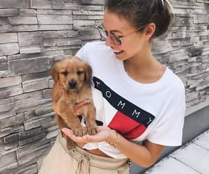 fashion, girl, and animal image