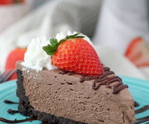 cheesecake, food, and chocolate image