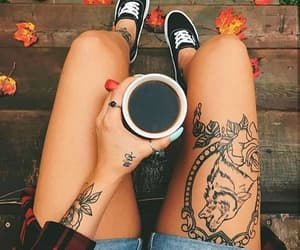body, tattoo, and drinks image
