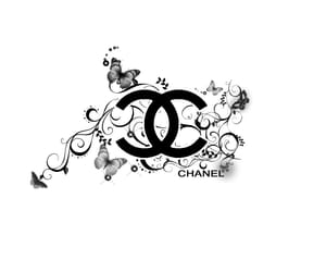 chanel, black, and Logo image