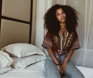 African, pretty girl, and black image