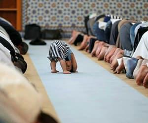 muslim, baby, and prayer image