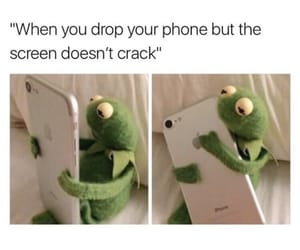 apple, kermit, and phone image