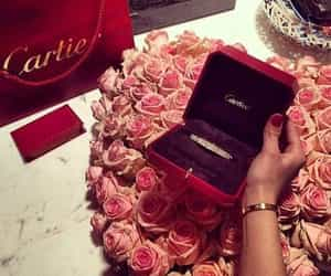 cartier, luxury, and flowers image