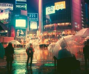 japan, night, and lights image